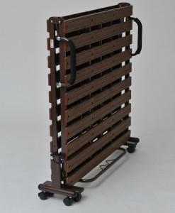 樹脂スノコベッド ブラウン/ベージュ【送料無料】(スノコベッド、シングルサイズ、折り畳みベッド)
