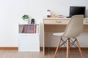 薄型ルーター&コミック収納ボックス ホワイト【送料無料】(収納ボックス、小物入れ、インテリア雑貨)