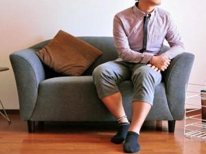 モダンノーウィッチソファ WKS-8090(ダークブラウン・グレー・レッド)     【送料無料】(椅子、イス、2人掛けソファ)