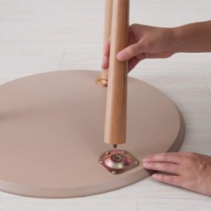 木製ラウンドテーブル/サイドテーブル/机/木目/木製/突板/北欧/おしゃれ/丸型/高級感/コーヒーテーブル 【送料無料】(センターテーブル、