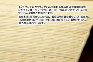 籐マット インドネシア産 39穴マシーンメイド むしろ 「ジャワ」(温泉)約70×120cm(5201970) (送料無料)(カ