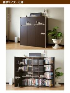 (6月上旬入荷予定)DVD・CD・コミック書棚ストッカー収納庫 ダークブラウン FM70DBR  【送料無料】(本棚,書庫,収納家