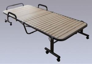 折りたたみすのこベッド  ナチュラルOTB-WH 【送料無料】(介護ベッド、リクライニングベッド 、折り畳みベッド、スチールベッド)
