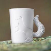 Mugtail 磁器製マグカップ キツネ 2個セット (食器、カップ、マグ、マグカップ、コーヒーカップ、コップ)
