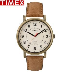 TIMEX/タイメックス/クラシックラウンド 腕時計 メンズ時計 T2P220 メンズ レディース アンティーク レザー ライトブラウン