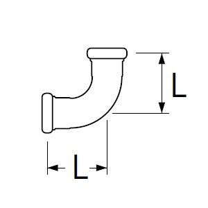 三栄水栓製作所 洗浄管連結異径エルボ トイレ用 パイプ径:19×25mm H80-4-19X25
