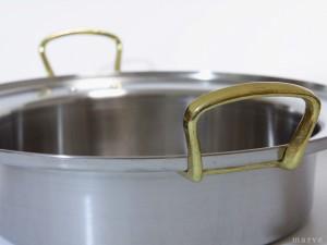 電磁調理器 用 すき焼き 鍋 深型 36cm (4.9L)  IH ・ オール熱源 対応 直火 OK 日本製 国産