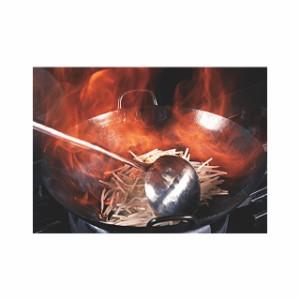 中華 鍋 | 日本製 ・ 国産 | 匠の技 プロ仕様 極厚 チタン 両手 中華鍋 | 48cm | 板厚 極厚の2.5mm | ハイカロリーバーナー対応