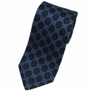 グッチ ネクタイ 421070-4069 GUCCI メンズ ジャガード デザイン GGパターン シルク100% ミッドナイトブルー/ヒヤシンスブルー