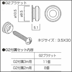 G2(ブラケット・キャップ)セット品  【タキヤ】 ピクチャーレール用  ブロンズ:2m用セット  額掛 金具