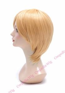 シンプルショート カドミウムオレンジ ショート コスプレウィッグ コスプレ ウィッグ wig コスウィッグ 耐熱