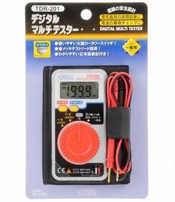 デジタルマルチテスター 使いやすい大型ロータリースイッチ 09-2002