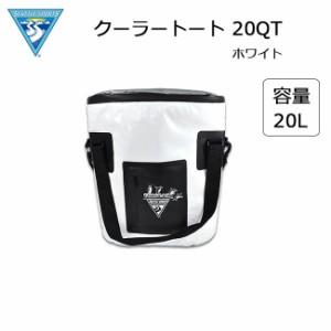 SEATTLE SPORTS/シアトルスポーツ クーラートート 20QTサイズ ホワイト クーラーバッグ 軽量 保冷バッグ 保冷トートバッグ ソフトクーラ