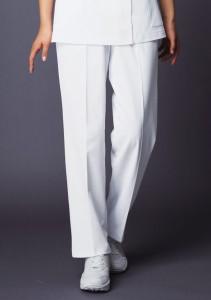 白衣 自重堂 ホワイセル WH10142 ゆったり レディ−スツータックパンツ 制菌加工 看護師