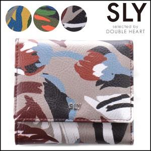sly 財布 スライ DARK GLASSES HALF FOLD WALLET 3つ折り財布 レディース コンパクト 小銭入れ カード収納 ブランド ロゴ S09916206