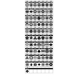 家紋入りネックレス(2本組) 54/三階菱 送料無料!