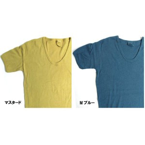 東ドイツタイプ Uネック Tシャツ JT039YD M ブルー サイズ4 【 レプリカ 】