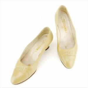 8abee88ae5fc シャネル CHANEL パンプス シューズ 靴 レディース ココマークステッチ 【中古】 T7019