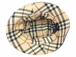 バーバリー Burberry 帽子 ハット レディース メンズ 中古 G1128