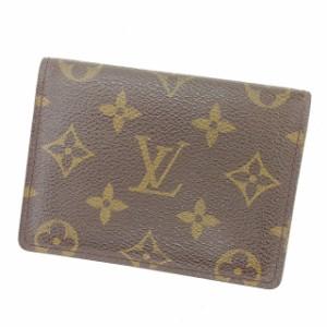 ルイヴィトン Louis Vuitton 定期入れ モノグラム レディース メンズ 中古 Y7181