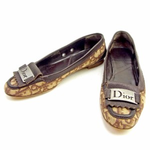ディオール Dior フラットシューズ トロッター レディース 中古 T1212