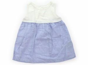 【無印良品/MUJI】ワンピース 90サイズ 女の子【USED子供服・ベビー服】(289913)