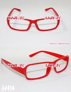 【コスプレ問屋】伊達眼鏡(だてめがね)02 赤☆コスプレ衣装