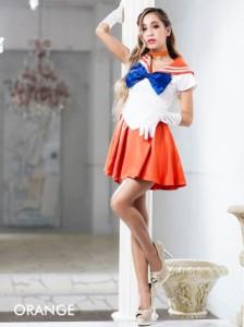 [最終価格☆在庫限り]即納 2016年ハロウィンコスプレ衣装「美少女戦士セーラームーン風」4点セット / 女 大人 キャ