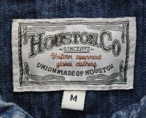 HOUSTON/ヒューストン 8oz デニム ワークシャツ  「DENIM WORK SHIRT」 40228W