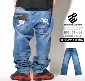バギーパンツ デニム メンズ 大きいサイズ ジーンズ パンツ b系 ストリート系 ファッション ロカウェア roca wear