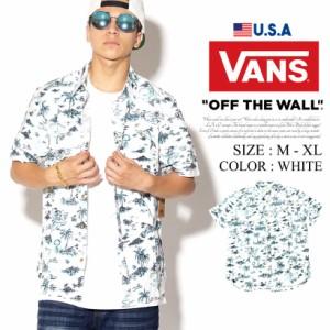 VANS バンズ 半袖シャツ メンズ 総柄 スケーター ストリート系 ファッション