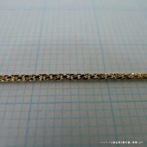 K18金 スリーファイブネックレス幅0.9mm60cm3.1gスライドA3519【32400円以上送料無料】【品質保証】