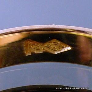 ゴールドリングK18金 オーロ/検定付マリッジリング結婚指輪 鍛造 甲丸【品質保証】【父の日】【32400円以上で送料無料】
