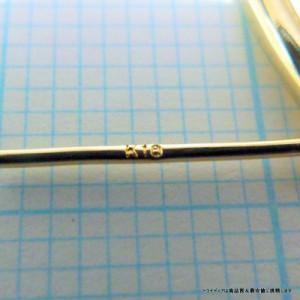 フープピアス レディースK18幅2mmx外径35mm金 流行大きめフープ