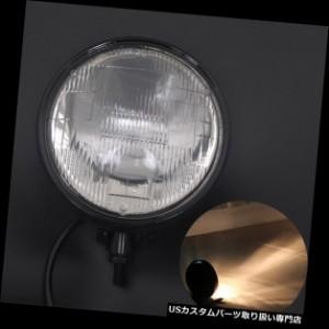 Moto Bullet Visi/ère Phare H4 Ensemble Phare Avant Pour Harley Honda Kawasaki Yamaha Suzuki Ducati Aprilia Noir