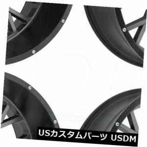 ホイール 4本セット 20x12 Vision 412ロッカー8x180 -51ガンメタルブラックリップホイールリムセット(4)  20x1