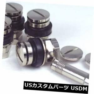 タイヤ/ホイール/リム /車/トラック/ SUV C用キャップ付き4PCS研磨アルミニウムバルブステム
