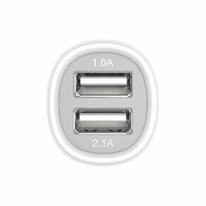 Kanex 2 USB ポート (1.0 A & 2.1 A) カーチャージャー ホワイト CLA2PORT