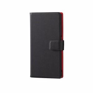ELECOM Xperia Z5 ソフトレザーケース 手帳型 横開き スナップ付 薄型 [Made for XPERIA] ブラック PM-SOZ5PLFUBK