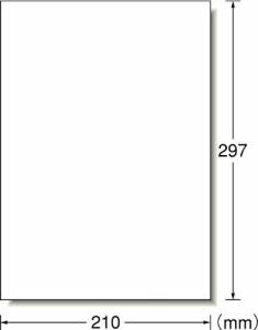 エーワン ラベルシール 光沢紙 ノーカット 20枚 28783