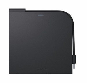 BUFFALO USB2.0 ポータブルDVDドライブ Windows/Mac両対応 フラットデザイン ウルトラスリムタイプ ブラック DVSM-PT58U2V/N