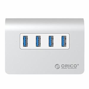 【日本直営店】 ORICO 4ポート USB3.0 HUB 高速データ転送 バスパワー VL812チップセット搭載 3.3ftケーブル 付 アルミ製 シルバー M3H4