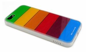 【正規品】LIM'S DESIGN iPhone 5 / iPhone 5S用レインボー保護ケース CLASSIC EDITION クリア LS-IPH5RT