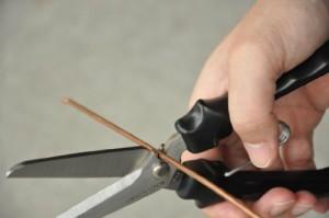 長谷川刃物 アームレスラー ハードスニップロングはさみ NAW-215 ブラック
