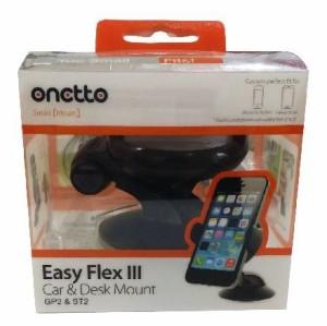 ONETTO Easy Flex3 Car Mount Black ワンタッチ ウルトラジェル吸盤 スマートフォン 車載ホルダー&デスクスタンド スマホ ホルダー【iPh