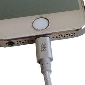 SMS 耐加重100kg Lightning-USB充電・通信ケーブル 1m シルバー WUL-10/S