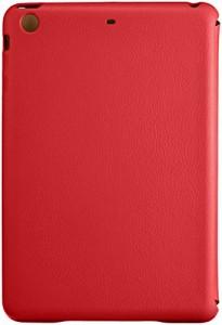 JISONCASE iPad mini1 / iPad mini 2 / iPad mini 3 PUレザー ケース オートスリープ機能付 レッド JS-IDM-01H30