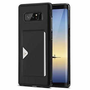 Samsung Galaxy Note 8 ケース 薄型 ICカード収納 TPUmsung Galaxy Note8, ブラック)