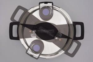パール金属 アルミ 圧力鍋 4.2L IH対応 ワンタッチレバー 内面 フッ素加工 H-5390