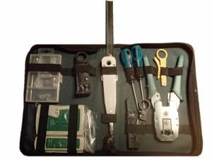 LANケーブル自作工具セット 圧着ペンチ テスター R45モジュラーコネクター LDS